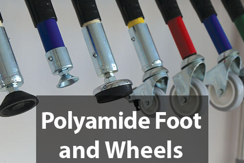 polyamide foot and wheels